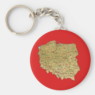 Poland Map Keychain