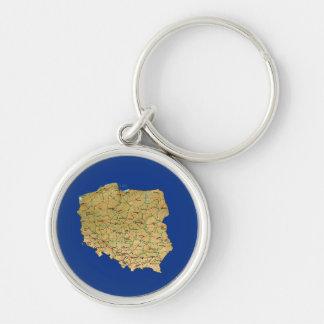 Poland Map Keychain