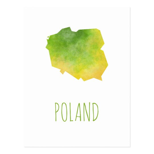 Poland Map Postcard