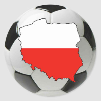 Poland national team classic round sticker