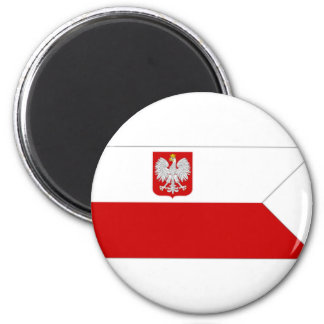 Poland Naval Ensign 6 Cm Round Magnet