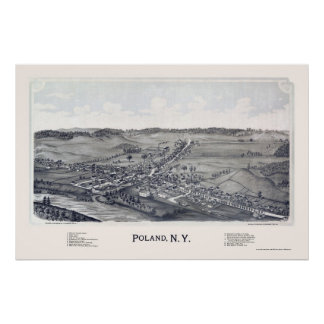 Poland, NY Panoramic Map - 1890 Poster