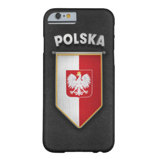 Poland Pennant with high quality leather look Barely There iPhone 6 Case
