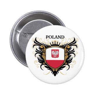 Poland [personalize] 6 cm round badge