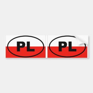 Poland PL European oval Bumper Sticker