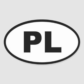 Poland PL European Oval Sticker