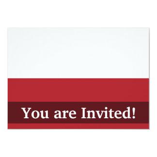 Poland Plain Flag 13 Cm X 18 Cm Invitation Card