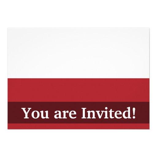 Poland Plain Flag Custom Invites