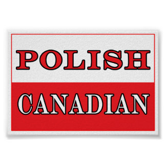 Poland Polish Canadian Flag Poster