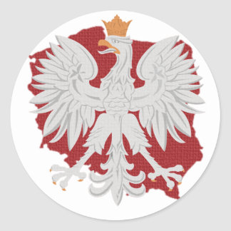 Poland Polish Eagle Classic Round Sticker