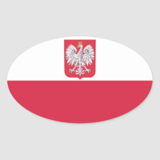 Poland Polish Eagle Crest Oval Sticker