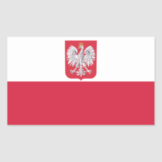 Poland Polish Eagle Crest Rectangular Sticker