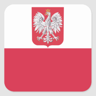 Poland Polish Eagle Crest Square Sticker