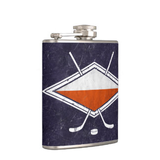 Poland Polish Ice Hockey Flag Logo Hip Flask