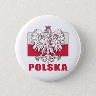 Poland Polska Coat of Arms 6 Cm Round Badge