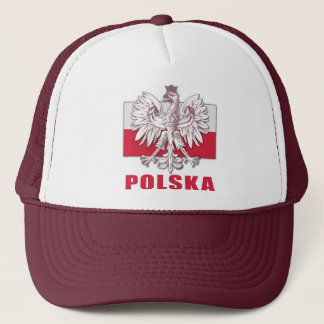 Poland Polska Coat of Arms Trucker Hat