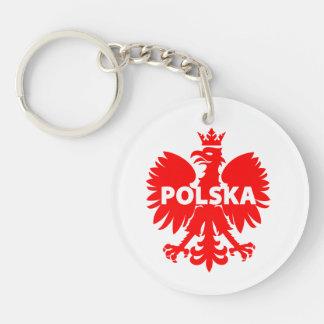 "Poland ""Polska"" double sided keychain"