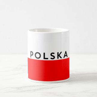 poland polska flag country polish text name coffee mug