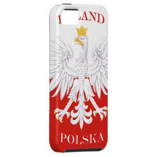 Poland Polska Flag iPhone 5 Case-Mate Tough™ iPhone 5 Case