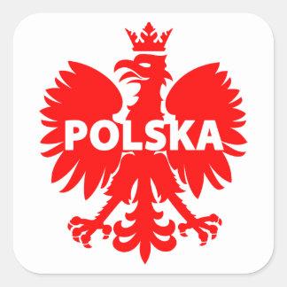 "Poland ""Polska"" Heraldic Eagle Stickers"