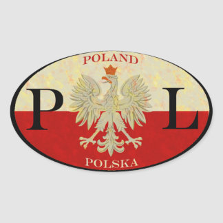 Poland Polska Oval Sticker