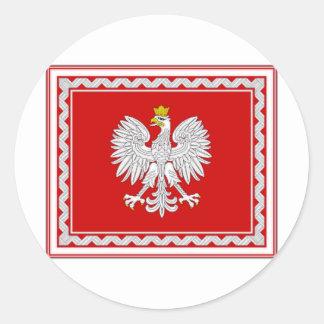 Poland President Flag Classic Round Sticker