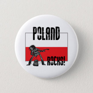 Poland Rocks 6 Cm Round Badge