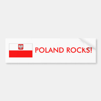 Poland Rocks Bumper sticker