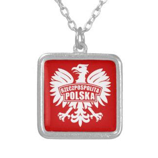 "Poland ""Rzeczpospolita Polska"" Eagle Symbol Silver Plated Necklace"