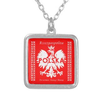 Poland Rzeczpospolita Polska Polish Eagle Emblem Silver Plated Necklace
