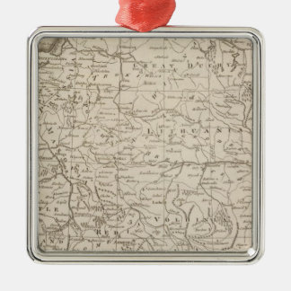 Poland, Shewing the Claims of Russia Silver-Colored Square Decoration