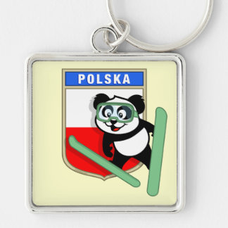 Poland Ski-jumping Panda Keychains