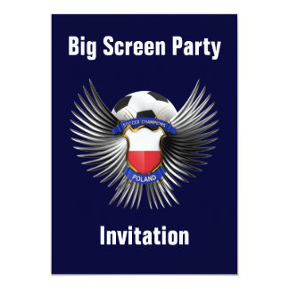Poland Soccer Champions 13 Cm X 18 Cm Invitation Card