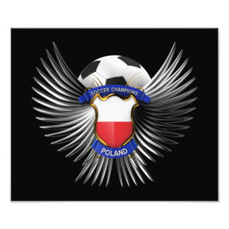 Poland Soccer Champions Photographic Print