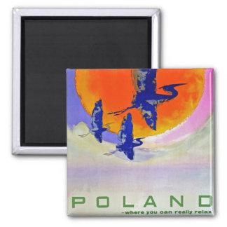 Poland Square Magnet