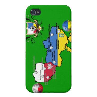 Poland Ukraine 2012 flag map football European Cup iPhone 4/4S Cases