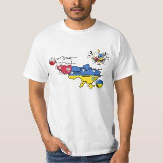 Poland Ukraine Euro 2012 football flag country map T-Shirt