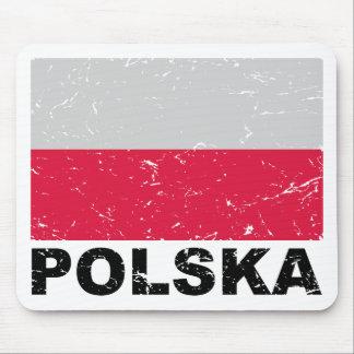 Poland Vintage Flag Mousepads
