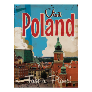 Poland Vintage Travel Poster