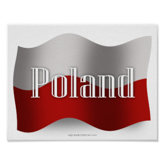 Poland Waving Flag Poster