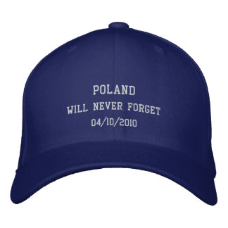 Poland will never forget embroidered baseball caps