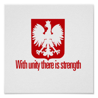Poland-With unity Strength Poster