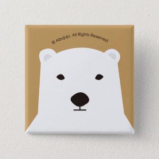 Polar bear 15 cm square badge