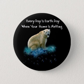 Polar Bear 6 Cm Round Badge