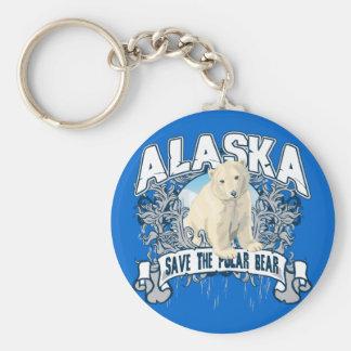 Polar Bear Alaska Key Ring