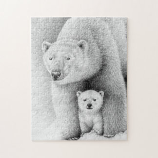 Polar Bear and Cub Puzzle