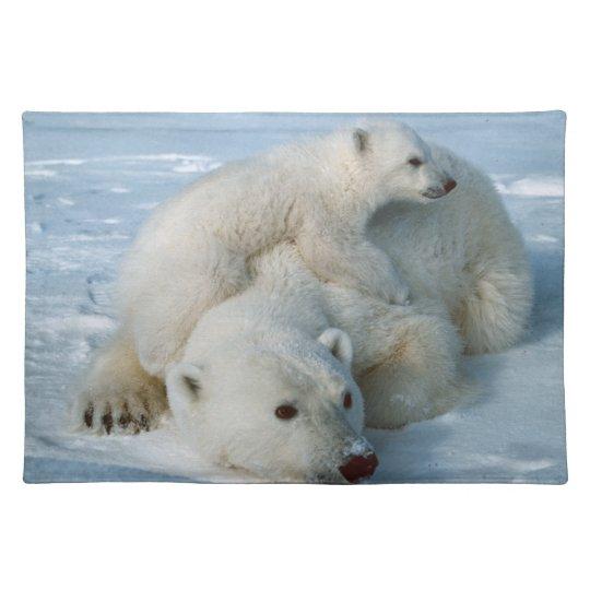 Polar Bear and Cub Wildlife Lovers Place Mat