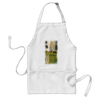 Polar Bear and Reflection Oil Painting Aprons