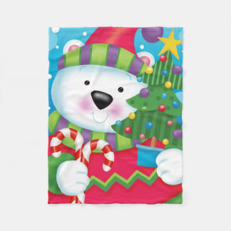 Polar Bear and Tree Blanket