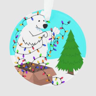 Polar Bear and Tree Lights
